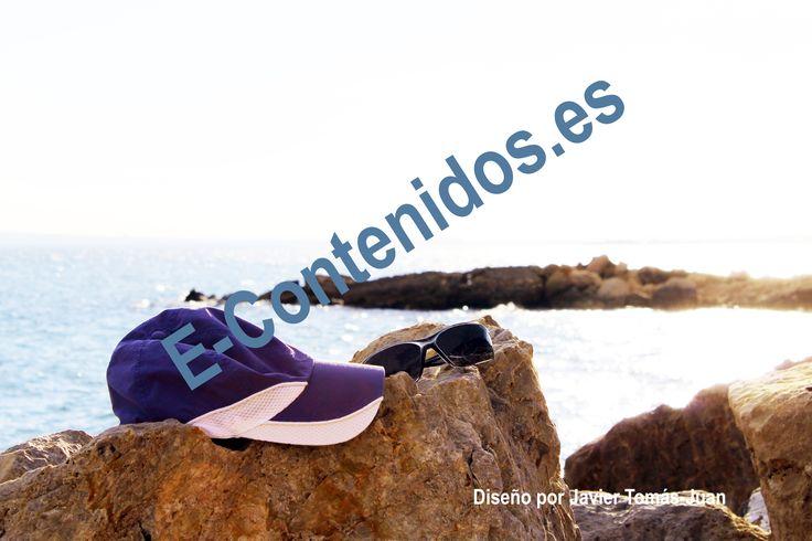 Transmite la importancia de protegerse de la radiación del sol en la playa.