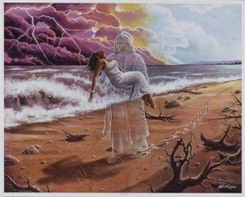 HO SOGNATO GESÙ ... Questa notte ho fatto un sogno, ho sognato che camminavo sulla sabbia accompagnato dal Signore e sullo schermo della notte erano proiettati tutti i giorni della mia vita.... Ho guardato indietro e ho visto che ad ogni giorno della mia vita, apparivano due orme sulla sabbia: una mia e una del Signore.... Così sono andato avanti, finché tutti i giorni si esaurirono.... Allora mi fermai guardando indietro, notando che in certi punti c'era solo un orma ... Questi punti…