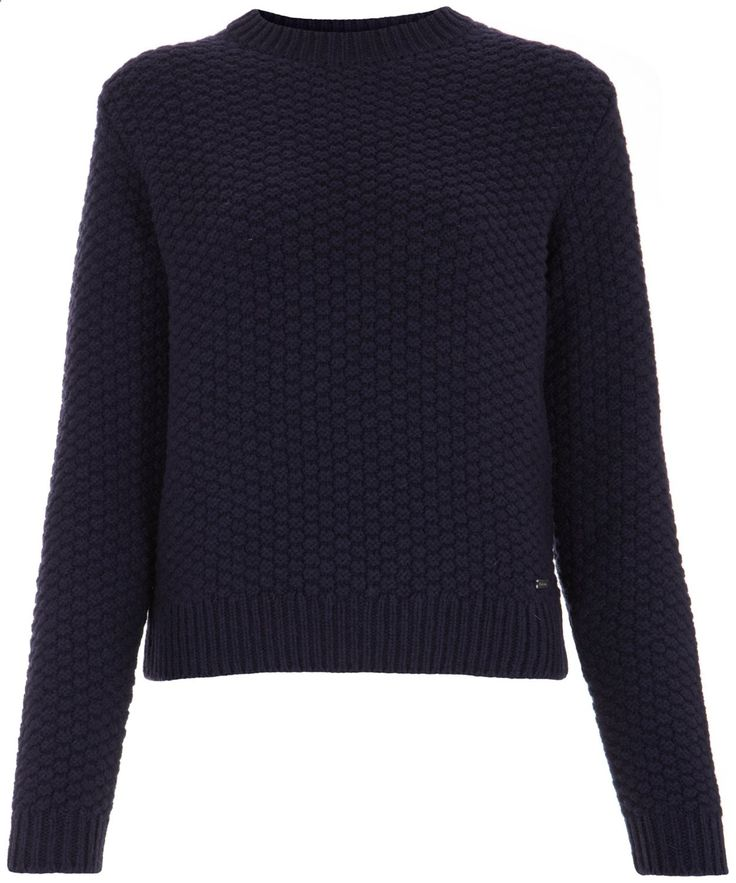 Navy Textured Knit Crew Neck Jumper, Barbour. Shop the latest knitwear from the Barbour womens collection online at Liberty.co.uk