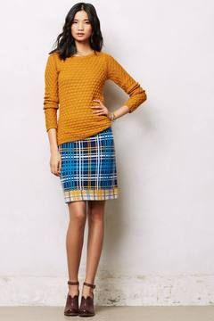 Jenna Plaid Pencil Skirt