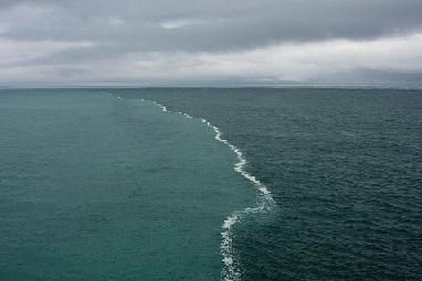 There is a place in the Gulf of Alaska where two oceans meet but do not mix.