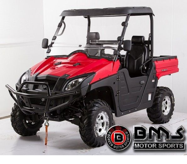 High Power UTV RANCH PONY 800cc F2 Double V Cylinder 4 Stroke 8 Valves - Fully Automatic CVT transmission with High & Low Gear - Water Cooled Engine - Front Bumper, Aluminum Rims - Mini Device Plays Radio + MP3 Player w/ USB port and 2 Speakers