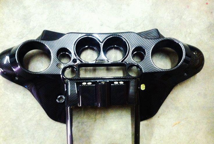 Carbon Fiber Motorcycle Helmets >> Harley Davidson inner fairing customized in Black Carbon ...