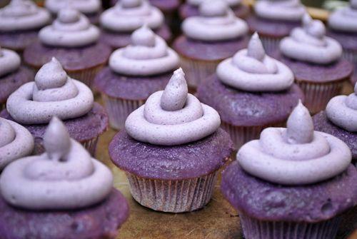 Grape Kool-Aid Cupcakes--Includes recipe for grape Kool Aid frosting, too.