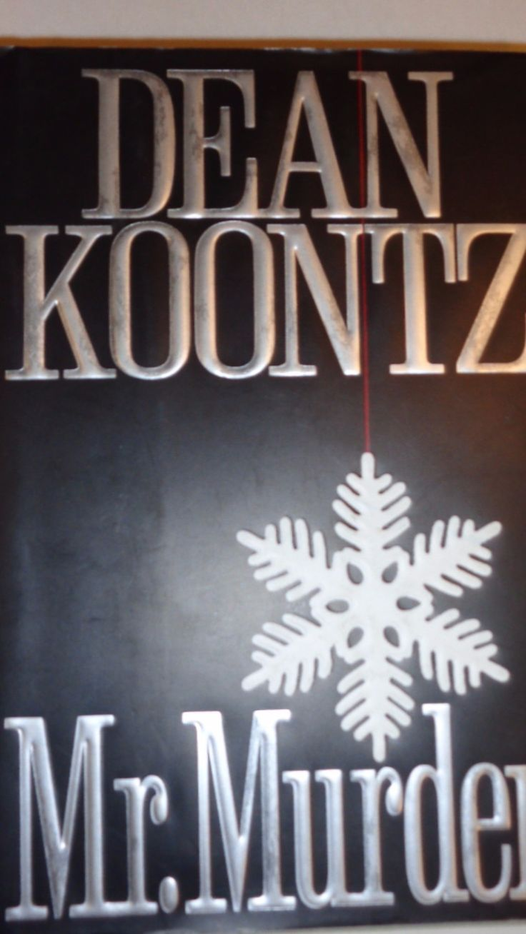 Author: Dean Koontz Fiction: Suspense ISBN: 0-399-13874-9 Summary: A man is happily married with two small children when another man comes and tells him he stole his wife and children and life. He wan