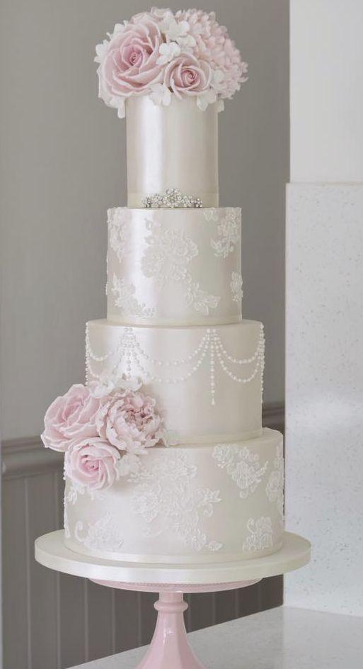 Empfohlener Kuchen: Baumwolle & Krümel; Hochzeitstorte Idee.   – Wedding