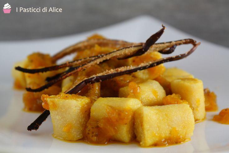 Gnocchi di Tofu su Crema allo Zafferano