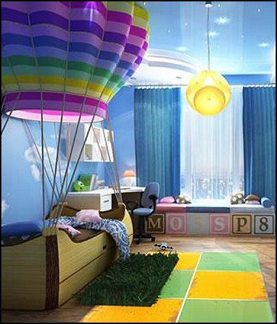 hotairballoonthemebedroomdecoratingideas 1b - Decor For Kids Bedroom