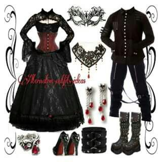 Outfit for goth couple