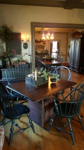 643 Best Dining Room Colonialprim Style Images On Pinterest Amusing Primitive Dining Room Sets Inspiration Design
