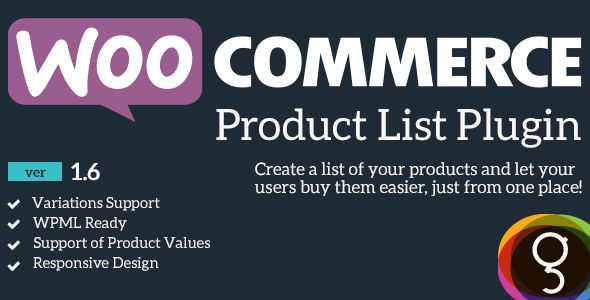 WooCommerce Product Listing   http://codecanyon.net/item/woocommerce-product-listing/5222089?ref=damiamio       About the Extension  	 WooCommerce Product Listing is a WooCommerce plugin that helps you create a page with all the Products of your web site, and let users buy multiple items, just from one page! You can also control the layout of the products list by using the different variations that the shortcode supports!  	 Now with a great admin panel, to make your life easier!  	…