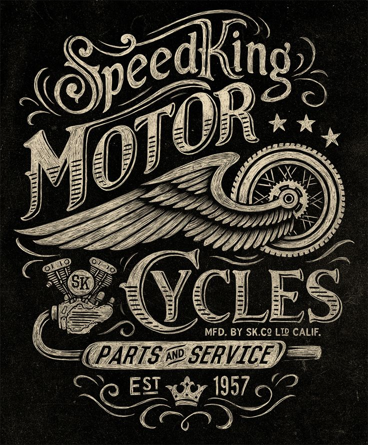 Motorcycle inspired vintage graphics on Behance                                                                                                                                                                                 Mais