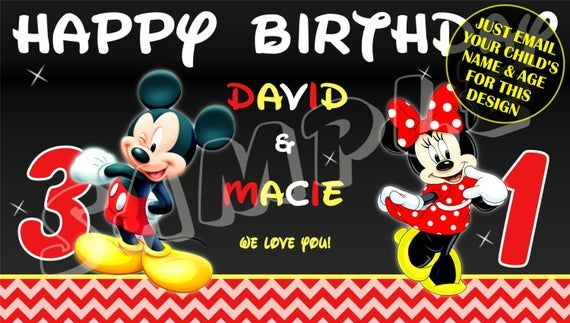 Minnie Mouse BIrthday Banner Personalized//Custom