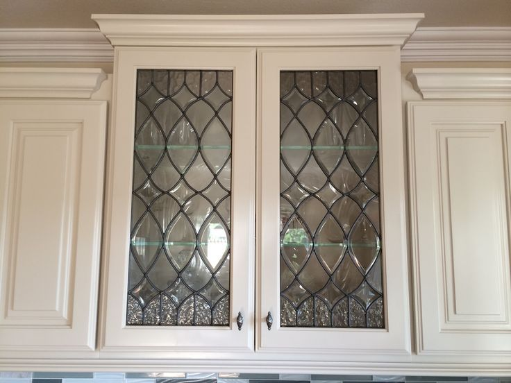 beveled leaded glass kitchen cabinets - Google Search