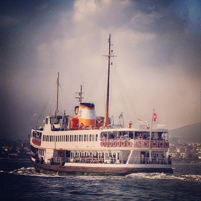 "BOSPHORUS FERRY. ""Boğaz Vapuru"" Istanbul,Turkey. emrkrm @emrkrm Instagram photos. Thank you to Ugur Soyata for sharing this wonderful photo. www.armadaistanbul.com www.armadaistanbulculture.com"