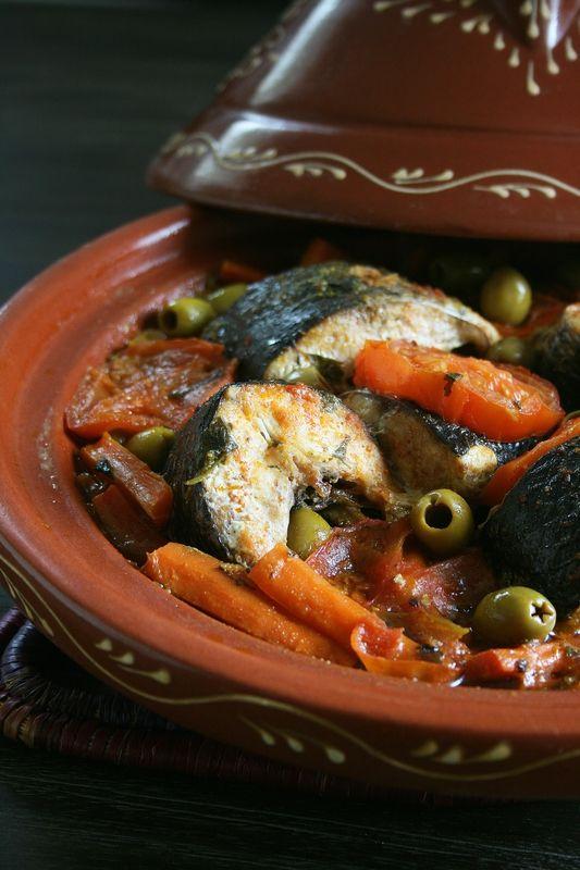Tajine de mulet noir, carottes et olives - Cuisine marocaine - Minouchka