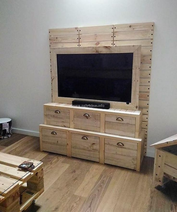 Cheap Home Furnishings With Pallet Recycling. Tv Stand With StoragePallet  ...