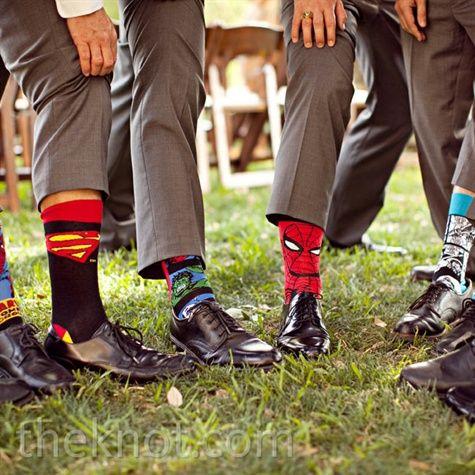 superhero groomsmen socks haha