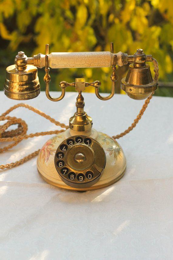 Vintage  Princess Rotary Phone by BelmondoVintage on Etsy, €50.00