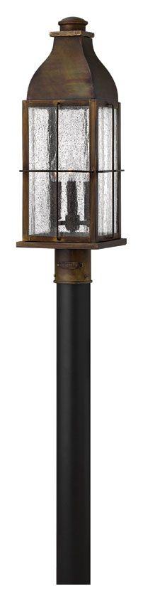 Hinkley 2041SN Bingham 23 Inch Tall Traditional Sienna Finish Lantern Outdoor Post Lighting - HIN-2041SN