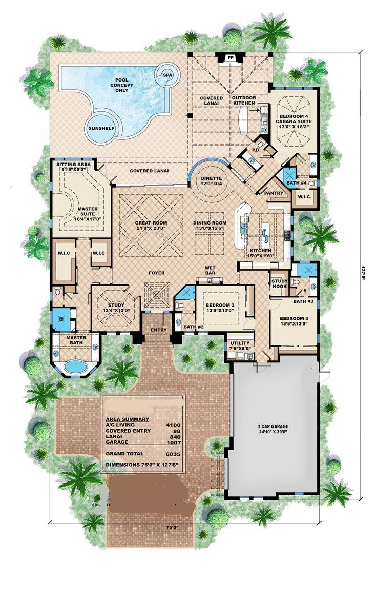 45 best house plans images on pinterest house floor plans bonus 175 1102 floor plan main level