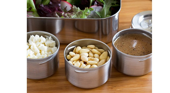 Our Lunchbots Screw Top Dip Containers are ideal for taking dressings and dips on the side and are equally perfect for smaller amounts of nuts, berries and small crackers!