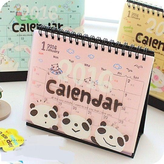 Hi panda 1pc 2016 cute desk calendar planner time table agenda scheduler memo