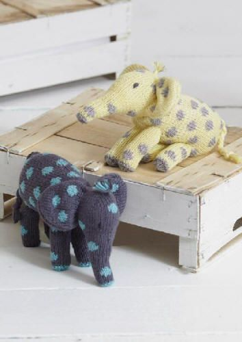 Part 2 of the free knit-along Noah's Ark patterns designed by Sue Jobson is Ellie and Eddie Elephant. They are made in Sirdar Baby Bamboo DK which is a wonderfully soft yarn with great stitch definition. You can download the pattern from the Sirdar website or from our Baby Bamboo DK page. We have also noted which colours are used for each pattern. http://www.cpu-enterprises.com/sirdar/yarn/dk-bamboo.htm