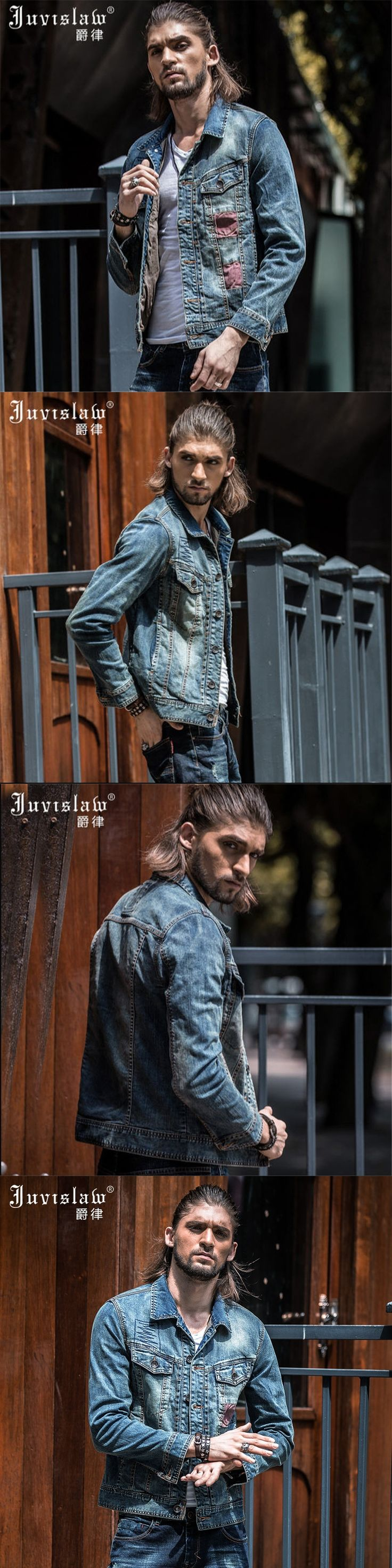 2017 Brand Clothing New Men Jacket Vintage Jeans Jacket  Men Single Breasted Winter Denim Jackets Slim Fit Jeans Outerwear A815