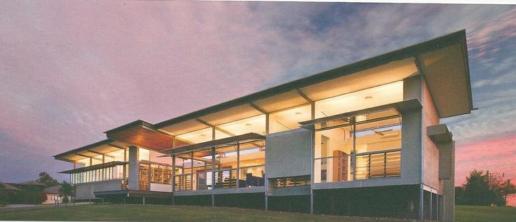 how to do veranda shelter with a skillion roof. skillion roof, high level windows, natural light