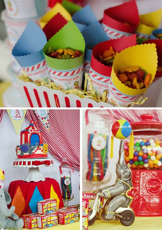CLASSIC CIRCUS Birthday Party Printable by ShopAndersRuff on Etsy, $18.00