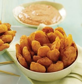 ONION PETALS. Crispy, golden battered bites of sweet onion are super as a side dish and perfect on party platters. 37-47 pieces. - M & M MEAT SHOPS