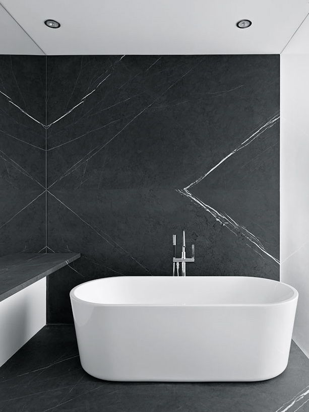 Craig Steely Architecture | Peter's House - simple yet so stunning. Free-standing bath and tiles are amazing