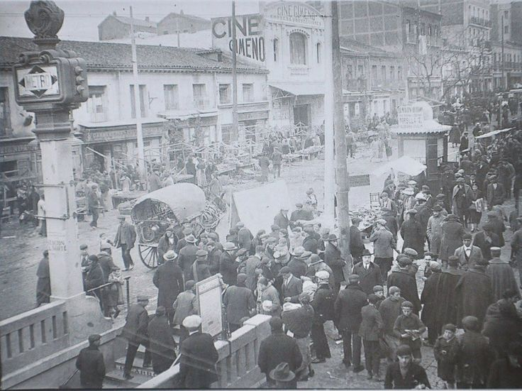 Primera estación de metro en Vallecas, años 20