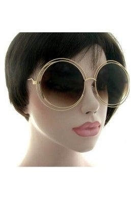 Lets take it way back. These oversized retro are quite the show stopper. These sunglasses features a rounded wire frame with artistic cutouts, opaque lens, and has a retro oversized style to them.