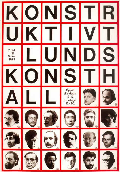 Swedish graphic designer John Melin (1921–1992) alongside Anders Österlin (born 1926) forged a highly conceptual approach to the treatment of posters, publications and gallery promotion, most notably for the Moderna Museet in Stockholm.