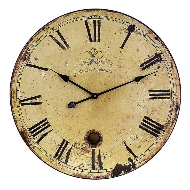 Imax 2511 Large Wall Clock With Pendulum Clocks