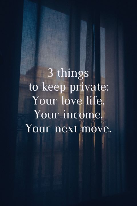 3 things to keep private