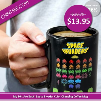 My 80's Are Back! I Found This Amazing Space Invaders Color Changing Mug!