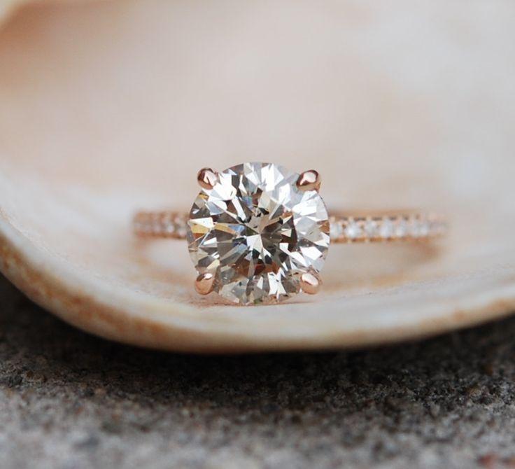 Engagement ring diamond ring 2.25ct VS2 Champagne by EidelPrecious