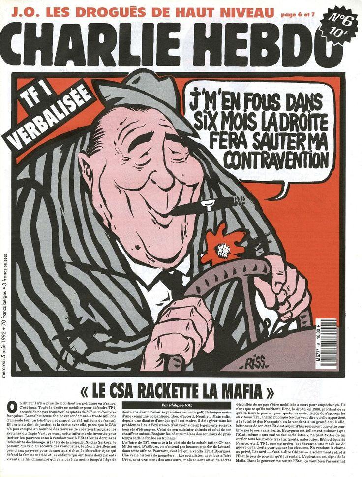 Charlie Hebdo - # 6 - 5 Août 1992 - Couverture : Riss