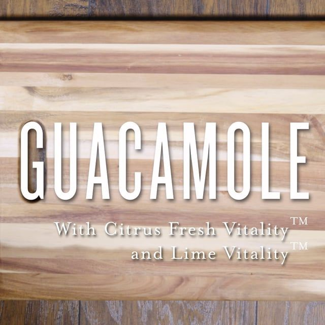 Easy Guac recipe made with Young Living essential oil  Learn more about how to get your essential oils at Createthebetteryou.com