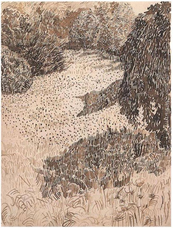 "workman: "" inspirationsandruminations: Vincent Van Gogh, landscape drawings """