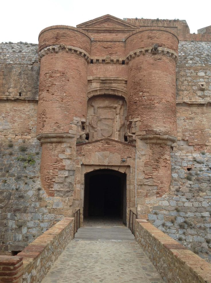 174. The Main Entrance to the Main Courtyard of the Fortress of Salses in Salses-le-Château