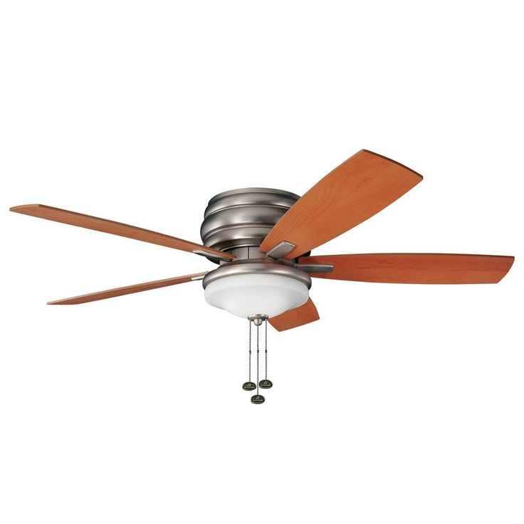 Kichler Lighting Windham Collection 52-inch Brushed Nickel Ceiling Fan w/Light (Glass)