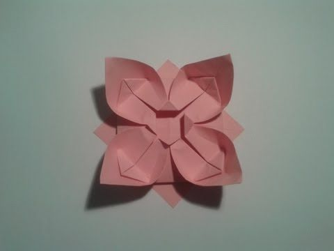 How to make an easy origami flower - YouTube
