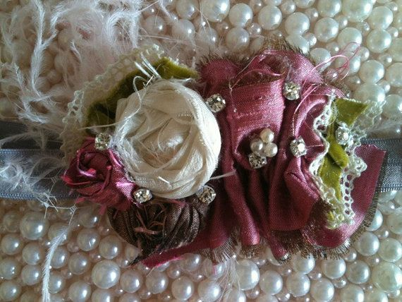 Cozette Couture Vintage Berry Romance to go with LiliCoco ruffle diaper cover set