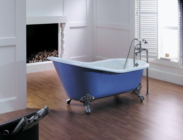 Astonian Slipper bath, 1550mm cast iron on claw feet from Aston Matthews http://www.astonmatthews.co.uk/