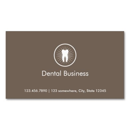 Simple Tooth Icon Dental Appointment Business Card