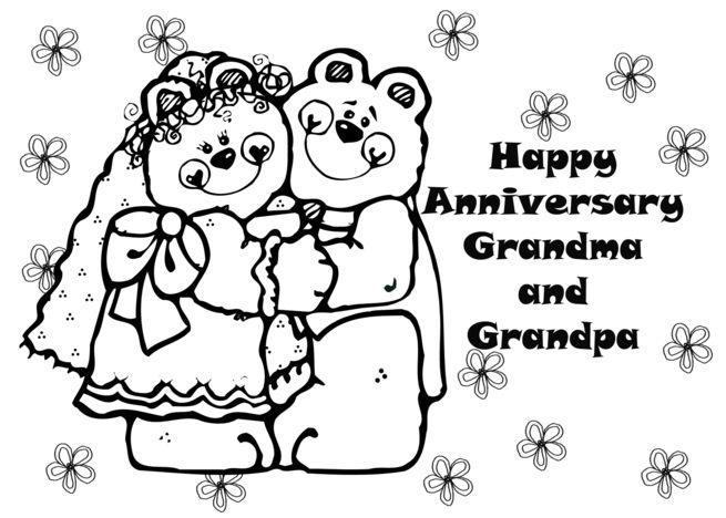 Color It Yourself Anniversary Card For Grandparents Card Ad Spon Anniversary Color Card Card Grandparents Card Anniversary Cards Happy Anniversary